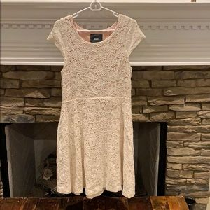 Maeve Blush Floral Knee Length Dress